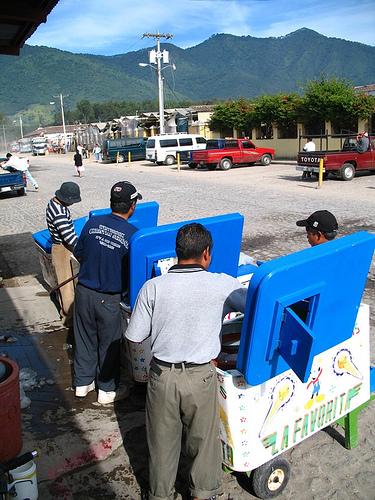 Preparing the Ice Cream Carts