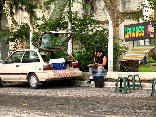 Ceviche Automobile Stand in Antigua