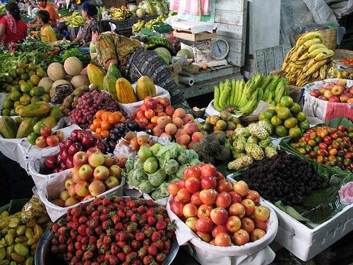 Guatemalan Market Fruit Stand