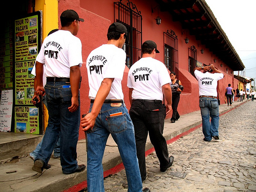 Antigua Guatemala Municipal Traffic Police Trainees