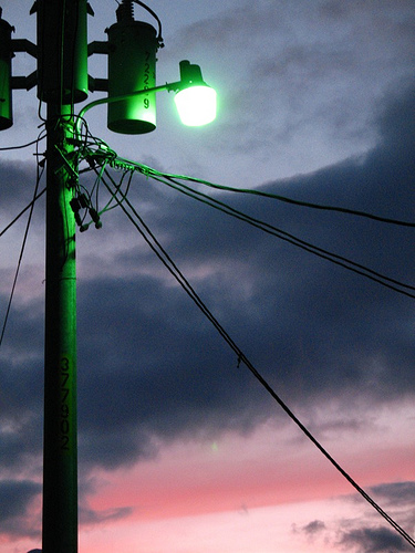 Wonderful Sunset and Powerlines