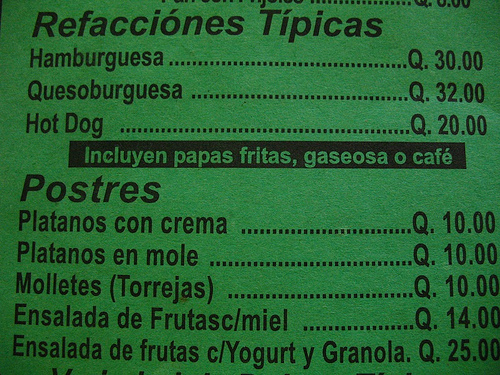 Only in LAG: Refacciones Típicas
