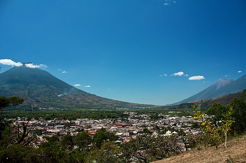 Panoramic View from Antigua Guatemala