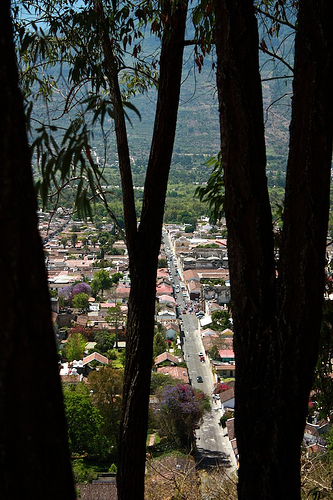 Framed Street from Antigua Guatemala