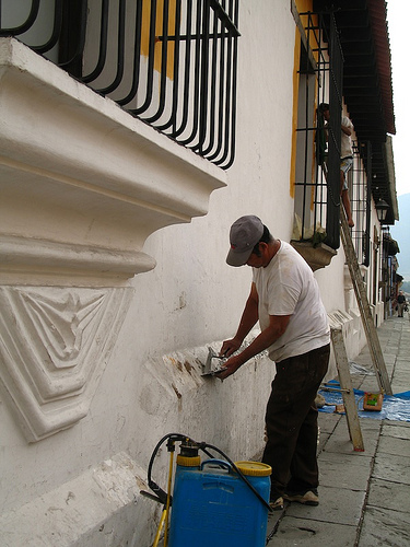 Holy Week Preparations: Façade Facelift