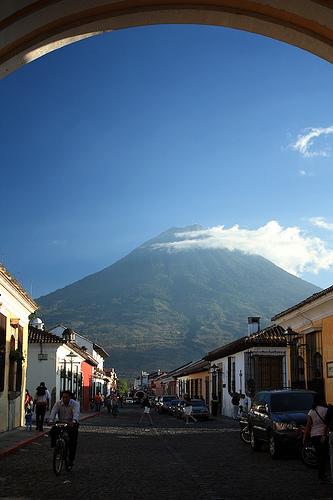 Arch-framed Volcán de Agua