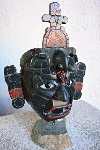 Mayan Green Jade Mask