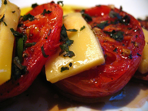 Tomatoes, Basil and Cheese