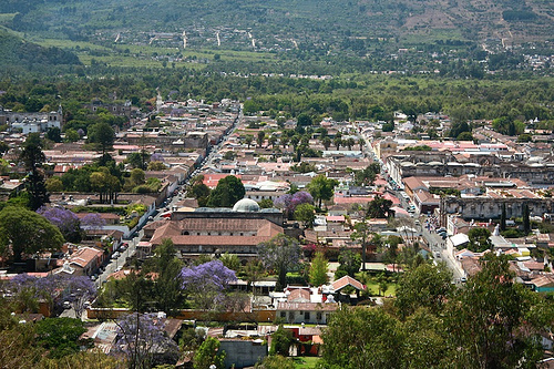 Antigua Guatemala's Grid from Above