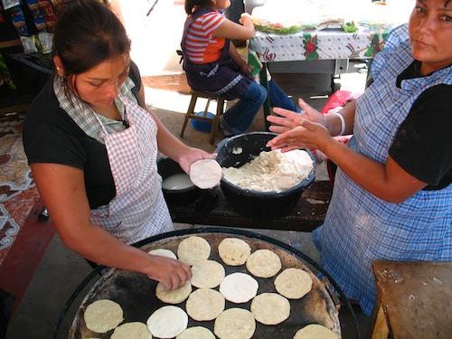 Making Guatemalan Tortillas
