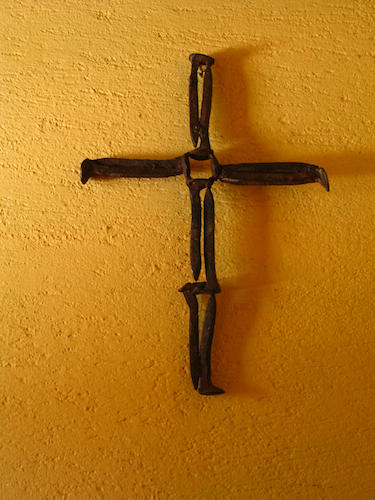 Antique Decoration Elements: Metal Cross