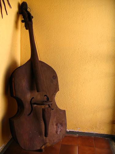 Antique Decoration Elements: Violoncello