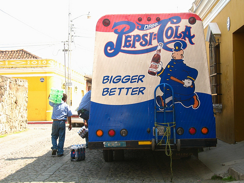 Old-style Pepsi-Cola Delivery Truck