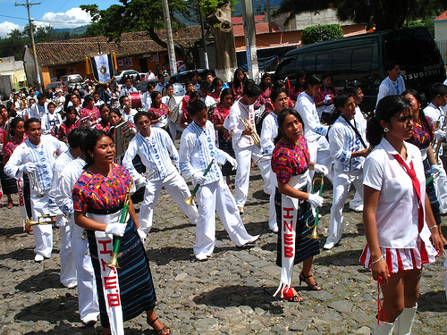 Mayan Students Paradade