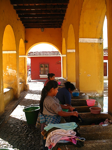 Typical Laundry Day in Antigua Guatemala