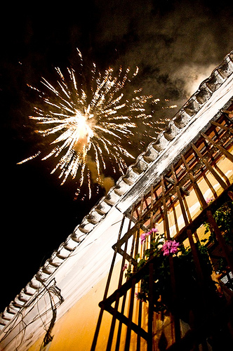 New Year 2010 in Antigua Guatemala