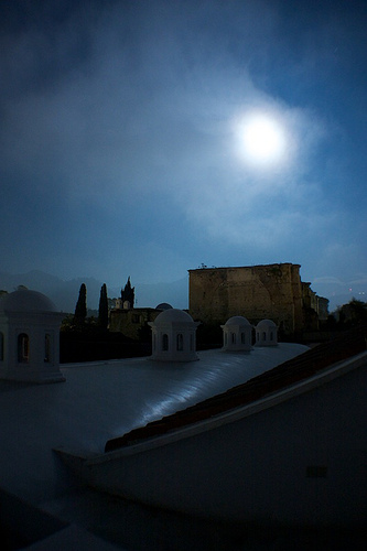 Moon lit cupolas