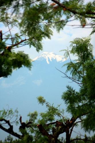 Snow-capped Acatenango Volcano