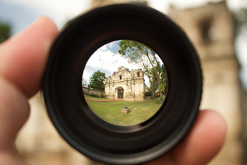 Colonial Church Ruins Within My Fingers