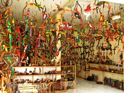 Colorful Guatemalan Wooden Handicrafts