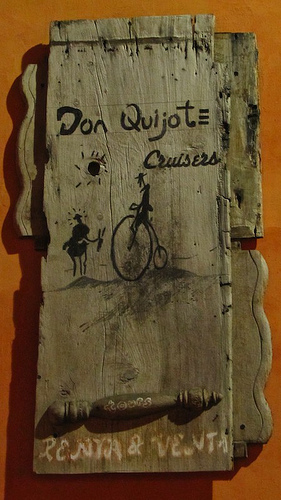 Don Quijote Cruisers Sign by Rudy Girón