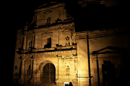 San Agustín Ruins by Night by  Rudy Girón