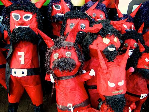 Guatemalan Devil Piñatas