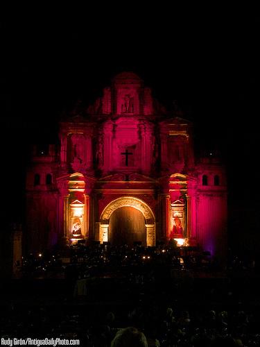Ermita de La Santa Cruz with Dramatic Lighting by Rudy Girón