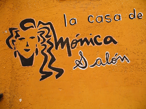 La casa de Mónica salon sign by Rudy Girón