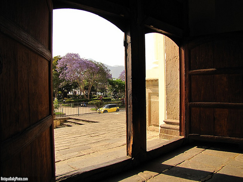 Cathedral's Arched Doors by Rudy Girón