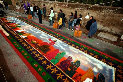 Antigua Holy Week Carpets by Leonel -Nelo- Mijangos