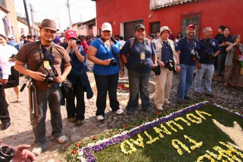 The Holy Week Photographers by Leonel -Nelo- Mijangos