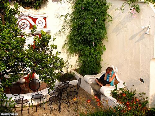 Skyping from the Garden by Rudy Girón