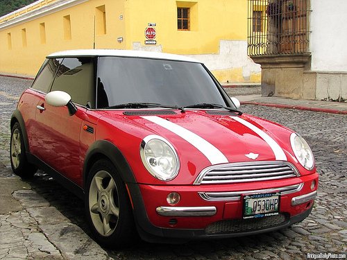 Mini Cooper in Antigua Guatemala by Rudy Girón