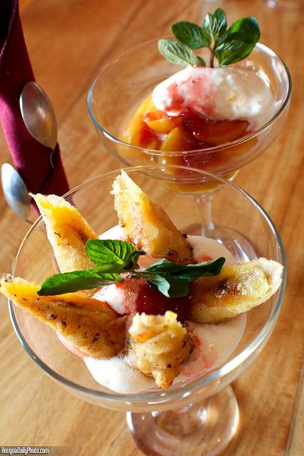 Banana & Peach Desserts