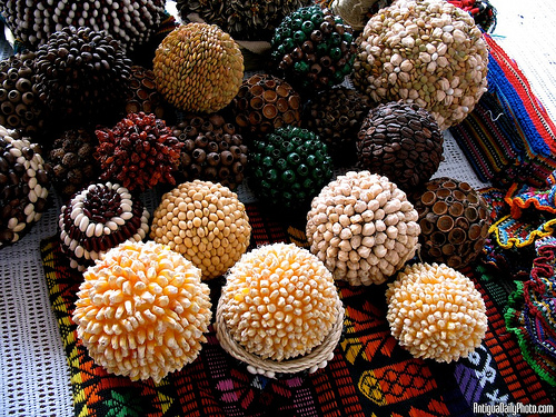 Guatemalan decoration handicrafts made from seeds by Rudy A. Girón