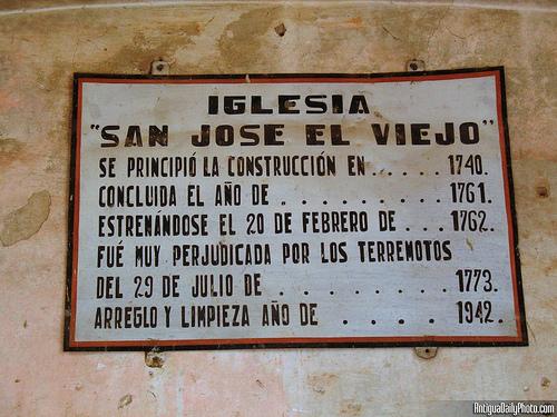 Iglesia San José El Viejo sign
