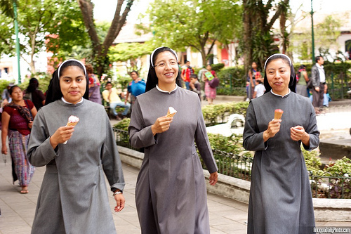 Three Ice Cream Eating Nuns