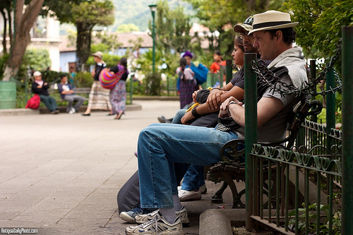 People Watching at Parque Central