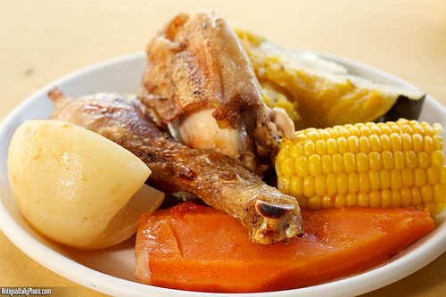Caldo de Gallina Criolla Vegetables