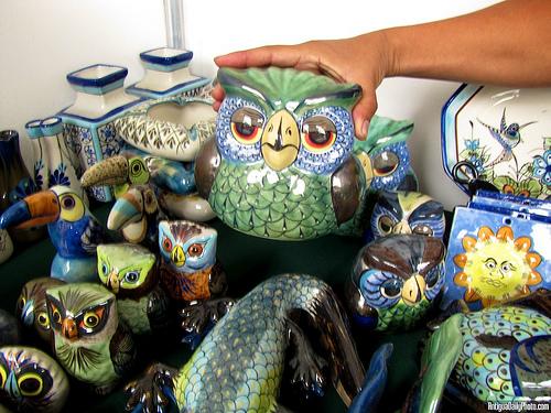 Guatemalan Ceramic Owls by Rudy A. Girón