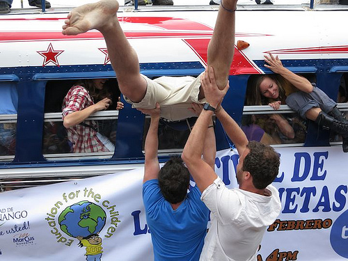 SLIDESHOW: How many people can you fit in a chicken bus? The answer is...