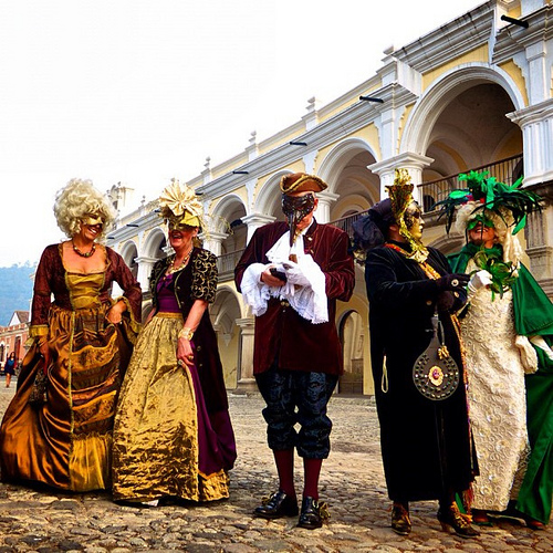 The Venetian Carnival has arrived to Antigua Guatemala.by Rudy A. Girón
