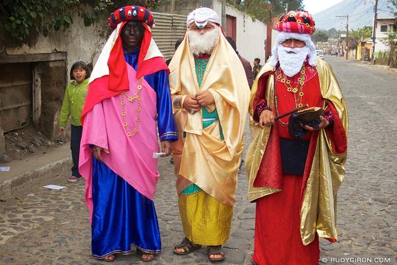 Rudy Giron: AntiguaDailyPhoto.com &emdash; The Three Wise Kings from San Pedro Las Huertas, Antigua Guatemala