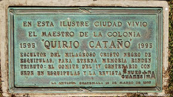 Rudy Giron: AntiguaDailyPhoto.com &emdash; El Cristo Negro de Esquipulas fue tallado en La Antigua Guatemala