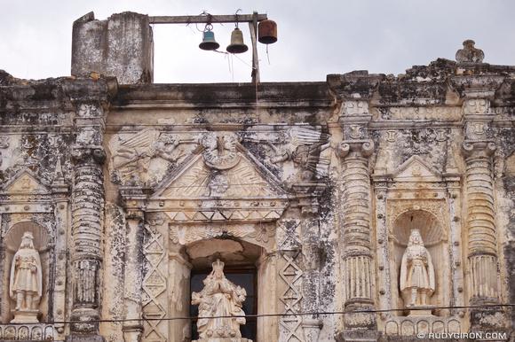 Rudy Giron: AntiguaDailyPhoto.com &emdash; Details of the façade of the church of San Gaspar Vivar