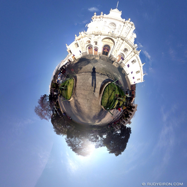 Rudy Giron: Tiny Planets &emdash; Tiny Planet of Parque Central in Antigua Guatemala