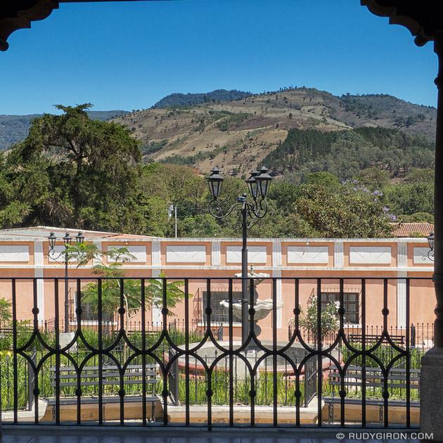 Rudy Giron: Instagrams &emdash; Hills Around Ciudad Vieja Seen from the Gazebo on Main Square