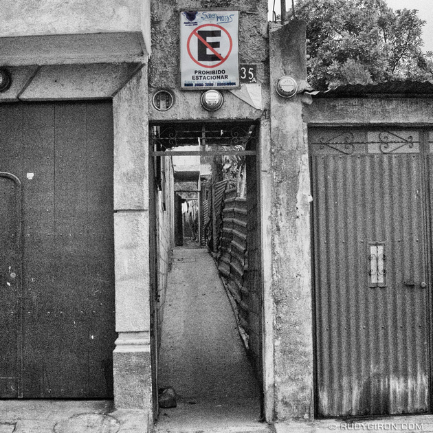 Rudy Giron: Instagrams &emdash; Parking prohibited, motorcycle exit at Ciudad Vieja, Guatemala