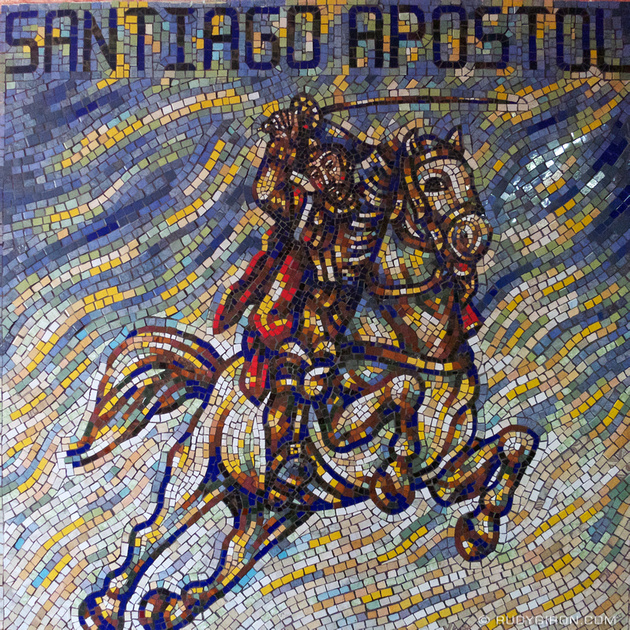 Rudy Giron: Instagrams &emdash; Mosaic Mural of Santiago Apostol
